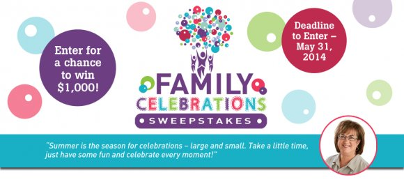 Ginny's Family Celebrations Sweepstakes