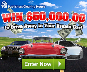 PCH $50K Dream Car Sweepstakes - Enter Online Sweeps