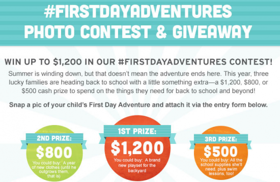Kindercare #FirstDayAdventures Photo Contest & Giveaway