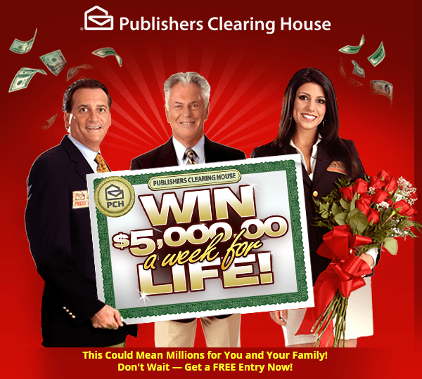 how do you enter publishers clearing house sweepstakes publishers clearing house 5000 a week for life superprize 7940
