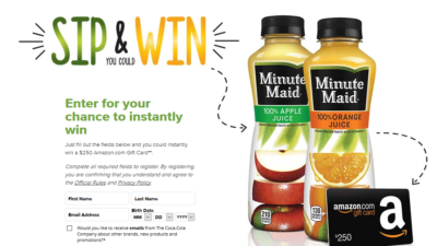 Juices to Go Instant Win Game