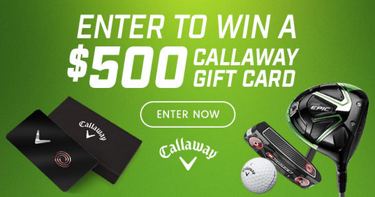 Callaway Golf Gift Card Sweepstakes - Enter Online Sweeps
