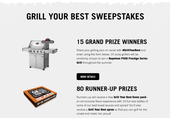 Grill Your Best Sweepstakes