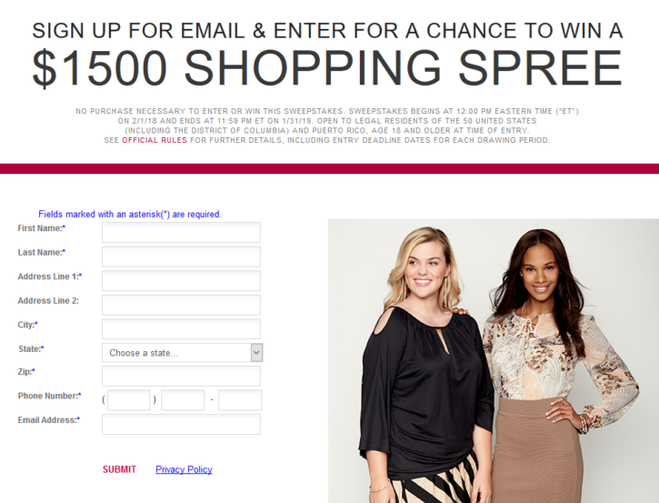 Burlington Shopping Spree Sweepstakes
