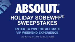 Absolut SOBEWFF Sweepstakes