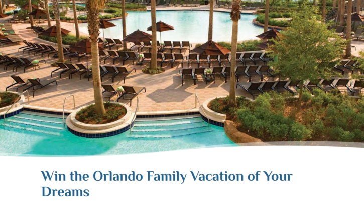 Orlando Family Vacation Contest - Enter Online Sweeps