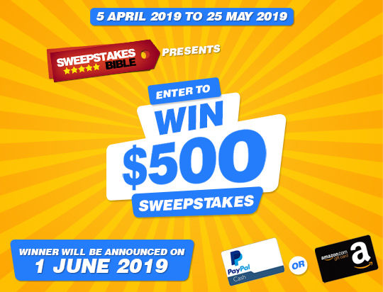 Win $500 Cash with Sweepstakes Bible
