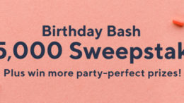 Time to celebrate! Enter now thru 6/30 for your chance to win the $25,000 grand prize, plus more birthday surprises from our prize sponsors